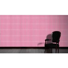 AS Création Streifentapete mit Glitter Bling Bling, Vliestapete, rosa, weiß 10,05 m x 0,53 m