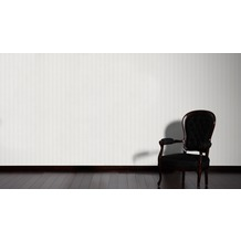 AS Création Streifentapete mit Glitter Bling Bling, Vliestapete, weiß 10,05 m x 0,53 m