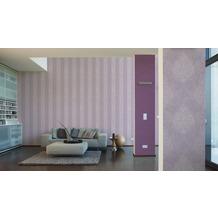AS Création Streifentapete mit Glitter Memory 2, Vliestapete, metallic, lila 10,05 m x 0,53 m