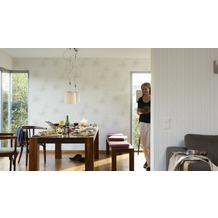 AS Création Streifentapete OK 7, Vliestapete, grau, weiß 10,05 m x 0,53 m