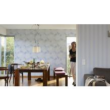 AS Création Streifentapete Smooth, Vliestapete, blau, grau 10,05 m x 0,53 m