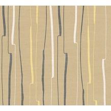 AS Création Streifentapete Urban Flowers Tapete beige gelb schwarz 327962 10,05 m x 0,53 m