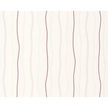 AS Création Streifentapete, Vliestapete, rot,creme 249531 10,05 m x 0,53 m