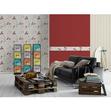 AS Création Streifentapete, Vliestapete, rot,creme 10,05 m x 0,53 m