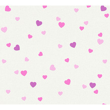 AS Création Strukturprofiltapete Boys & Girls 6 Tapete mit Herzen Love creme 357502 10,05 m x 0,53 m