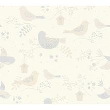 AS Création Strukturprofiltapete Boys & Girls 6 Tapete mit niedlichen Vögelchen beige367561 10,05 m x 0,53 m