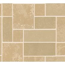 AS Création Strukturprofiltapete Il Decoro Tapete in Fliesen Optik beige braun metallic 347791 10,05 m x 0,53 m