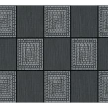 AS Création Strukturprofiltapete Il Decoro Tapete in Fliesen Optik grau metallic schwarz 934892 10,05 m x 0,53 m