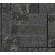 AS Création Strukturprofiltapete Il Decoro Tapete in Fliesen Optik metallic schwarz 347793 10,05 m x 0,53 m