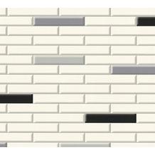 AS Création Tapete Il Decoro in Klinker Optik creme grau schwarz 342784 10,05 m x 0,53 m