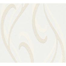 AS Création Vliestapete Meistervlies Tapete in 3D Optik überstreichbar weiß 934821 10,05 m x 0,53 m