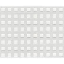 Strukturtapete weiß überstreichbar  AS Création Tapete mit Muster: kariert | Hertie.de