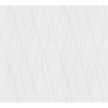 AS Création Vliestapete Meistervlies Streifentapete überstreichbar weiß 245014
