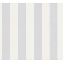 AS Création Vliestapete Meistervlies Blockstreifentapete überstreichbar weiß 247612