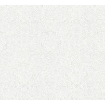 AS Création Vliestapete Meistervlies Barocktapete überstreichbar weiß 354501 10,05 m x 0,53 m