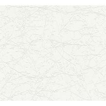AS Création Vliestapete Meistervlies Tapete mit Ästen überstreichbar weiß 354581 10,05 m x 0,53 m
