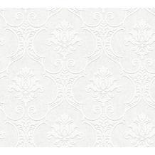 AS Création Vliestapete Meistervlies Barocktapete überstreichbar weiß 354761 10,05 m x 0,53 m