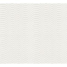 AS Création Vliestapete Meistervlies Strukturtapete überstreichbar weiß 954015 10,05 m x 1,06 m