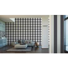 AS Création Uni-, Strukturtapete Black & White 3, Vliestapete, weiß 10,05 m x 0,53 m