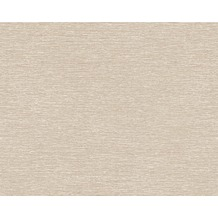 AS Création Uni-, Strukturtapete Dekora Natur, Tapete, perlweiß, ockerbraun 635174 10,05 m x 0,53 m