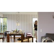 AS Création Uni-/Strukturtapete Fleuri Pastel, Tapete, violett 10,05 m x 0,53 m