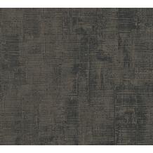 AS Création Uni-, Strukturtapete Memory 3 Vliestapete grau schwarz 335944 10,05 m x 0,53 m