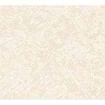 AS Création Uni-, Strukturtapete New Look Vliestapete beige creme metallic 338633 10,05 m x 0,53 m