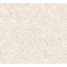 AS Création Uni-, Strukturtapete New Look Vliestapete creme grau metallic 338631 10,05 m x 0,53 m