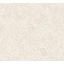 AS Création Uni-, Strukturtapete New Look Vliestapete creme grau metallic 338634 10,05 m x 0,53 m
