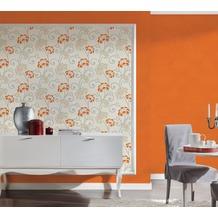 AS Création Uni-, Strukturtapete San Francisco, Strukturprofiltapete, orange 10,05 m x 0,53 m