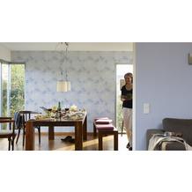 AS Création Uni-, Strukturtapete Smooth, Vliestapete, blau 10,05 m x 0,53 m