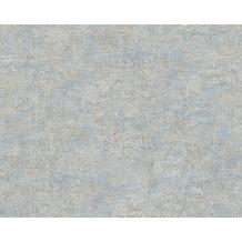AS Création Unitapete Bohemian Burlesque, Tapete, taubenblau, metallic 960803 10,05 m x 0,53 m