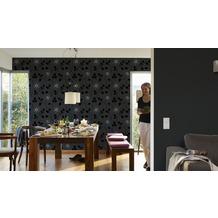 AS Création Unitapete New Orleans Strukturprofiltapete schwarz 10,05 m x 0,53 m