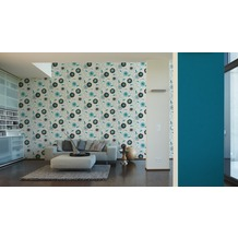 AS Création Unitapete San Francisco, Strukturprofiltapete, blau, metallic 10,05 m x 0,53 m