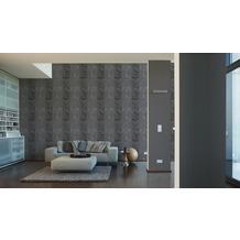 AS Création Unitapete Strukturtapete Reflection Vliestapete Tapete schwarz 10,05 m x 0,53 m