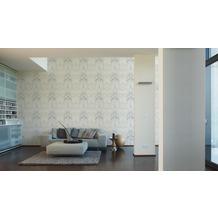 AS Création Unitapete Strukturtapete Reflection Vliestapete Tapete weiß 10,05 m x 0,53 m
