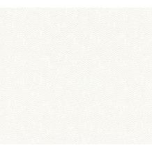 AS Création Unitapete Strukturtapete Urban Life Vliestapete metallic weiß 326581 10,05 m x 0,53 m