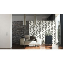 AS Création Unitapete Urban Flowers Papiertapete metallic weiß 10,05 m x 0,53 m