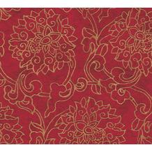 AS Création Vliestapete Asian Fusion Blumentapete asiatisch metallic rot 374701 10,05 m x 0,53 m