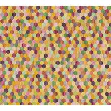 AS Création Vliestapete Asian Fusion geometrische Tapete asiatisch gelb orange lila 374631 10,05 m x 0,53 m