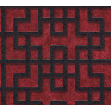 AS Création Vliestapete Asian Fusion geometrische Tapete asiatisch rot schwarz 374652 10,05 m x 0,53 m