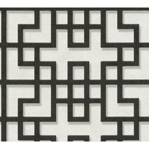 AS Création Vliestapete Asian Fusion geometrische Tapete asiatisch weiß schwarz grau 374653 10,05 m x 0,53 m