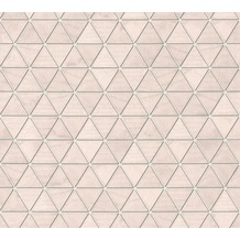 AS Création Vliestapete Authentic Walls 2 Tapete geometrisch grafisch metallic rosa grau 366221 10,05 m x 0,53 m