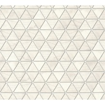 AS Création Vliestapete Authentic Walls 2 Tapete geometrisch grafisch metallic weiß grau 366222 10,05 m x 0,53 m