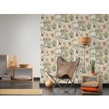AS Création Vliestapete Authentic Walls 2 Tapete im Ethno Look beige grün grau 10,05 m x 0,53 m
