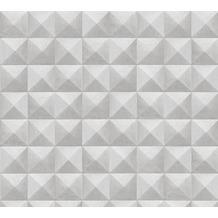 AS Création Vliestapete Authentic Walls 2 Tapete in 3D Optik geometrisch beige grau 362752 10,05 m x 0,53 m
