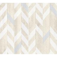 AS Création Vliestapete Authentic Walls 2 Tapete in Holz Optik beige grau weiß 364961 10,05 m x 0,53 m