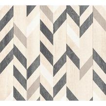 AS Création Vliestapete Authentic Walls 2 Tapete in Holz Optik beige schwarz braun 364962 10,05 m x 0,53 m