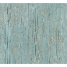 AS Création Vliestapete Authentic Walls 2 Tapete in Holz Optik blau grün braun 364871 10,05 m x 0,53 m