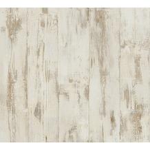 AS Création Vliestapete Authentic Walls 2 Tapete in Vintage Holz Optik beige braun 961391 10,05 m x 0,53 m